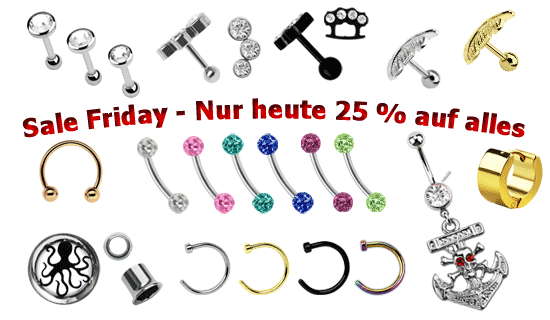 Black Friday im Piercing Shop
