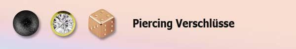 Verschlüsse - Piercing Aufsatz