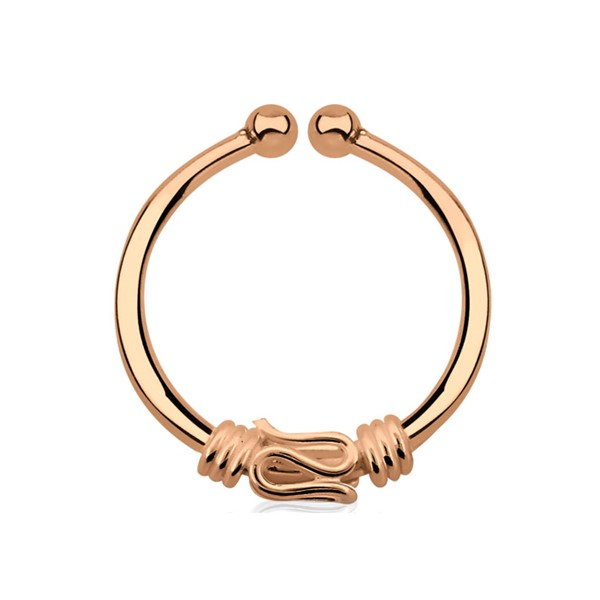Bild von Nasenpiercing Fake Ring Septum rose Gold, Schlange, 1,0 x 11 mm